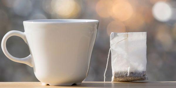 alvejante em riscos de saúde de saquinhos de chá